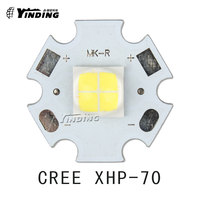 1pcs Cree XLamp XHP-70 XHP70 6V Neutral White 5000K 30W High Power LED Emitter Blub Lamp Light LED Chip with 20MM PCB Heatsink