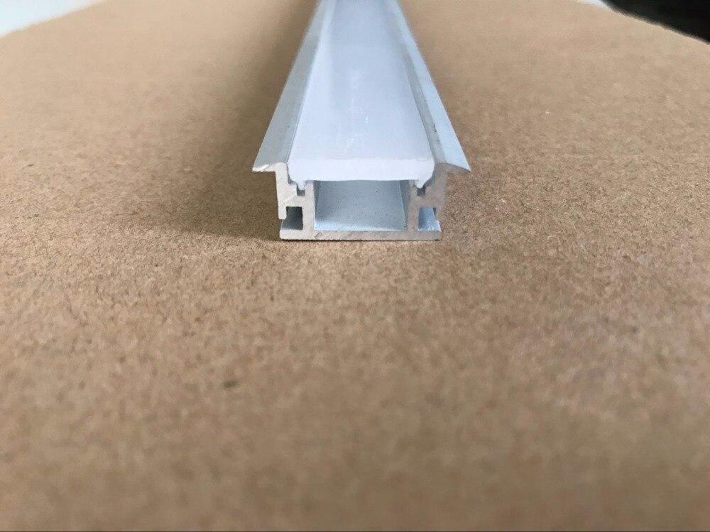 Perfil de aluminio LED impermeable para baño de 1m de longitud por pieza