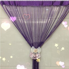 Crystal Beads Curtain Rope Gray Purple Door Curtain Divider Window Panel Room Glitter Ball Tassel String Curtains On The Window