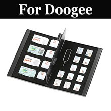 Caso De Armazenamento Titular Do Cartão de memória SIM Cards Para Doogee Y300 Y6 1X9 Mini X7 F7 T6 Atirar Pro x5 Max X5 Max Pro T3 Mix Mix Lite