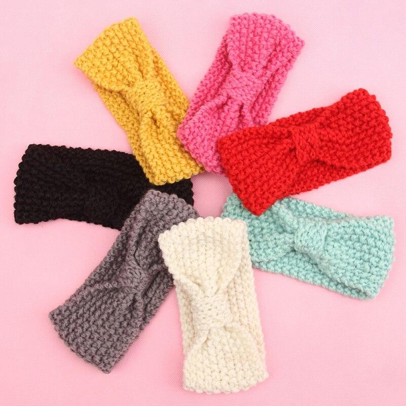 Зимний вязаный крючком тюрбан для девочек Yundfly, повязка на голову, теплые повязки на голову для ушей, Детские аксессуары для волос для новоро...