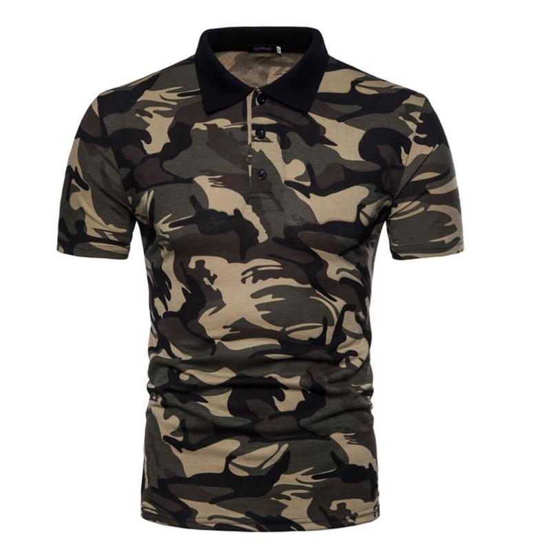 Zogaa Men Polo Shirt Short Sleeve Brand Camouflage Polos Male Tops Casual Slim Printed Military Polo Shirt Men Streetwear