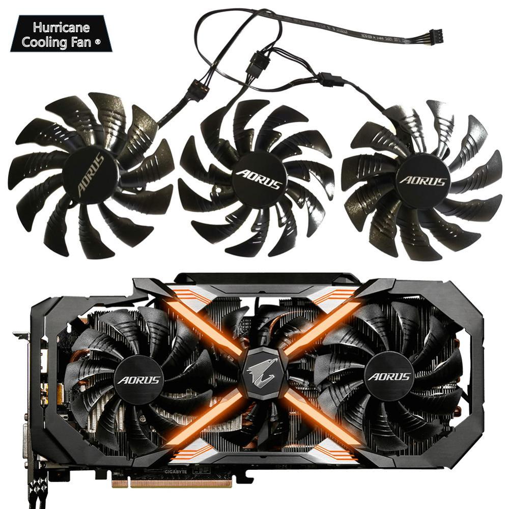 95mm T129215BU 12V 0.55A PLD10015B12H ventilador para GIGAYTE 2 AORUS GeForce GTX 1080 Ti GTX 1080Ti RTX2060 Xtreme edición Video ventilador de la tarjeta