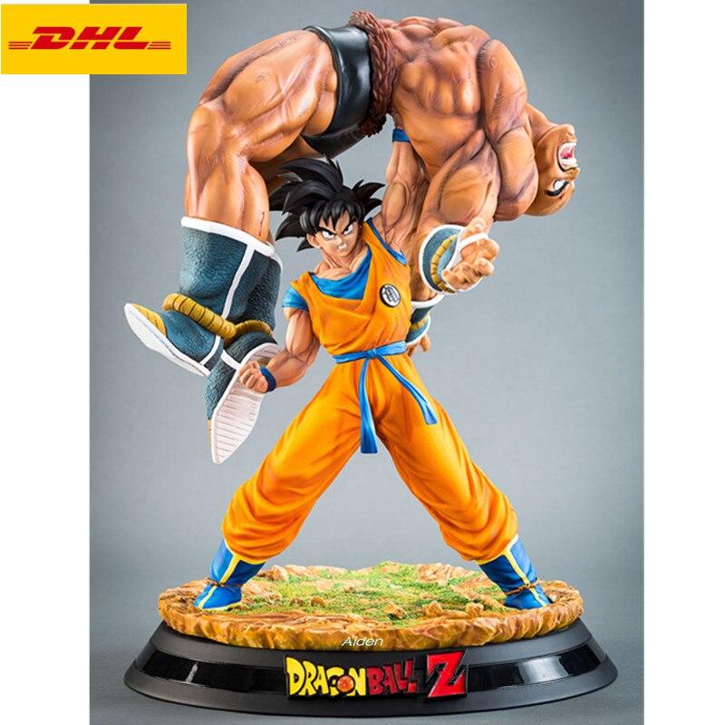 "Figura de acción de Dragon Ball de 17 "", figura de acción de Son Goku lift Action Nappa Saiyan GK, retrato de longitud completa, juguete de modelos coleccionables, 40CM, B620"