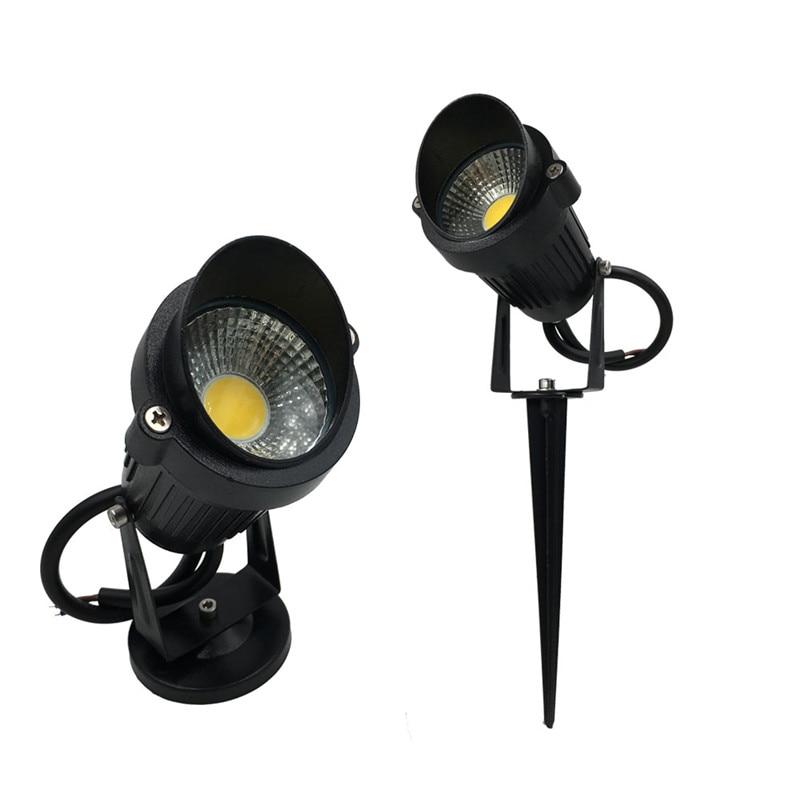 New Product LED Garden Landscape Light with Cap 12V/AC85-265V Waterproof Outdoor LED Lawn Lamp 9W LED Spot Hood Lighting