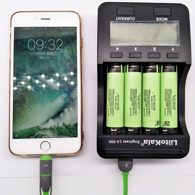 Liitokala lii-500 led-anzeige ladegerät für 1,2 v/3 v/3,7 v/4,25 v 18650 /26650/18350/16340/18500/AA/AAA lii-500 rechargea