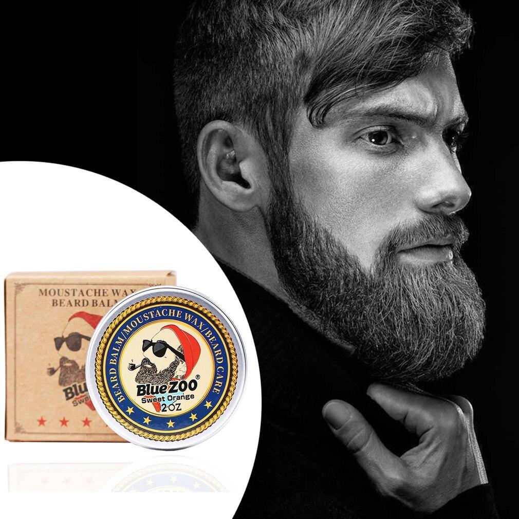 Bálsamo de aceite de barba portátil para hombres, cera de bigote para estilizar la cera de abejas, cera hidratante para alisar la barba para caballero, cuidado con fragancia