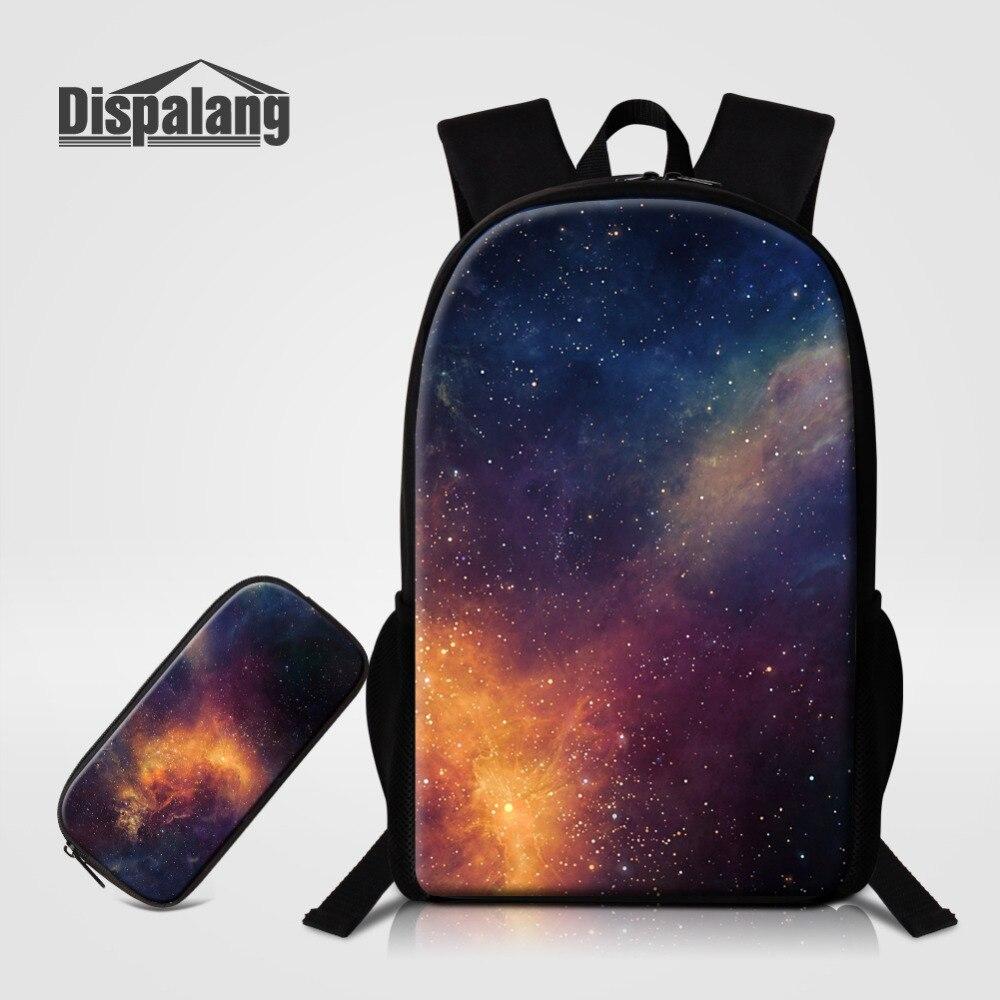 Dispalang mochilas escolares con bolígrafo Galaxy mochila para escuela de gran capacidad bolsa de libros para niños para adolescentes niñas niños estuche de lápices
