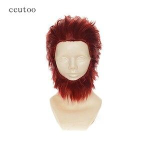 Ccutoo Fate/Zero Rider короткие красные мягкие Многослойные синтетические волосы термостойкие волосы косплей полный парик + медведь