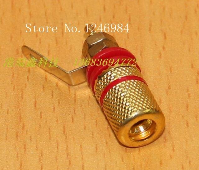 [SA] Conector banana jack de 4MM, conector terminal M8, Agujero dorado, rojo y negro, terminales de conexión a tierra de cobre, columna -- 100 unids/lote