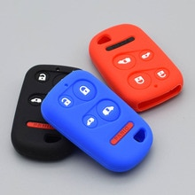 Silicone car key cover case for Honda 2001-2004 Odyssey LX EX Remote Car Key Fob 5 button protect sh