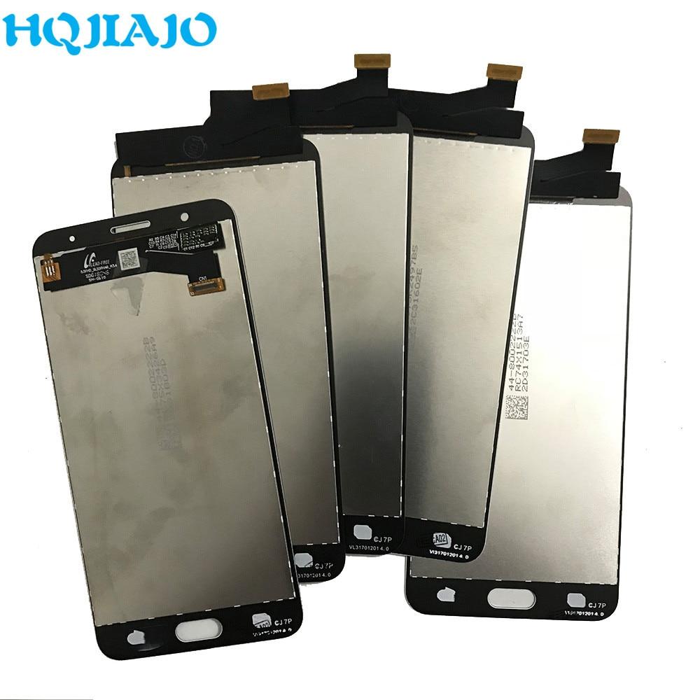 5 جزء/الوحدة LCD لسامسونج غالاكسي J7P J7 Prime G610 G610M G610F G610Y LCD عرض تعمل باللمس محول الأرقام الجمعية 5.5 ''AMOLED