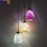 IWHD Modern Pendant Light Fixtures Dining Kitchen Glass Hanging Lamp Led Home Lighting Color Design Lamp Luminaire Suspendu