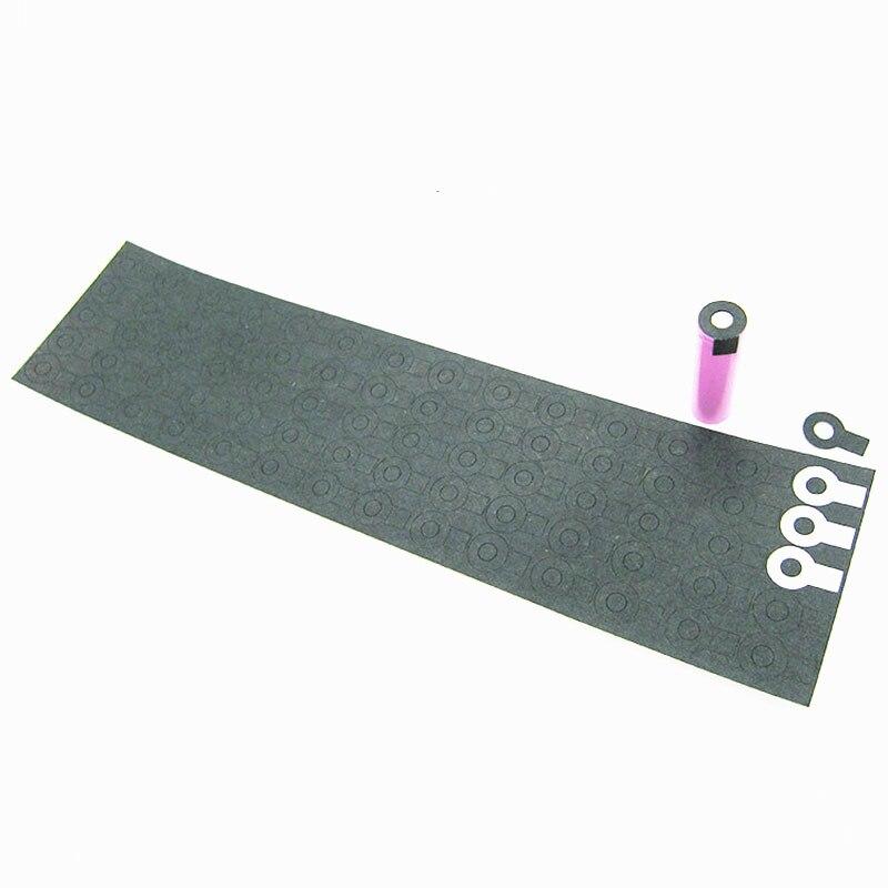 70 Uds 1S 18650 junta de aislamiento de la batería Paquete de batería de papel de cebada parche adhesivo aislante de celda almohadilla aislante de electrodo positivo