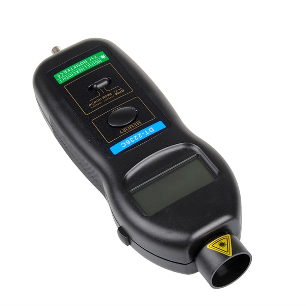 DT2236C Speed Detector Meter Laser RPM Tachometer LED Digital Optical Contact Tachometer Detector Meter New