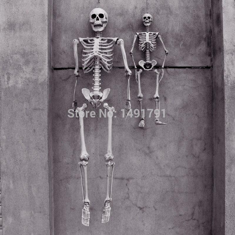 165cm terrorífico Halloween accesorios Casa Encantada casa Escape artificial humano modelo de esqueleto marco tomb-raiding adultos calavera huesos