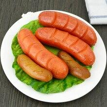 Home Decor Decoration Crafts Miniatures PVC Simulation Sausage Hotdog Props Food Decorative Toys Food Model 6pcs/lot
