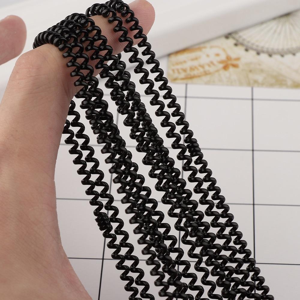 Bandas elásticas para el pelo para niñas, 5 uds súper fino cable telefónico, soporte para Coleta, bandas de goma, accesorios para el cabello para mujeres