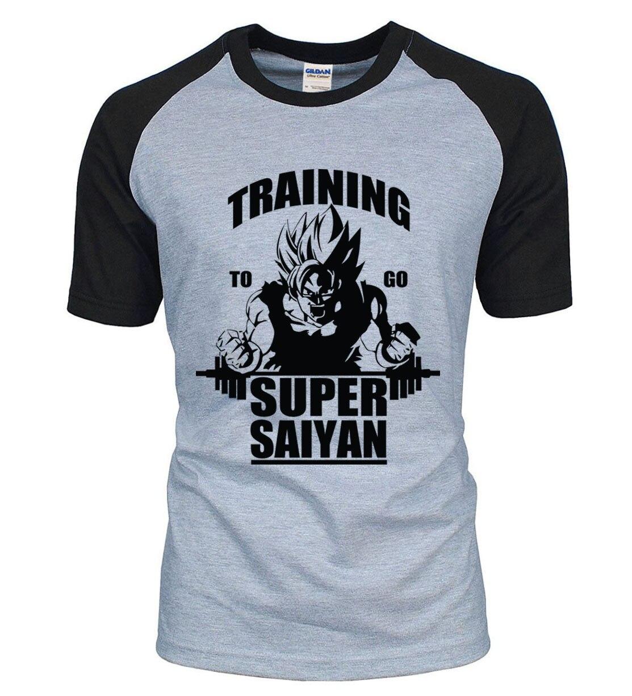 Взрослая аниме Dragon Ball Super Saiyan футболка 2020 Новинка Лето 100% хлопок высокое качество реглан мужская футболка повседневные футболки S-2XL