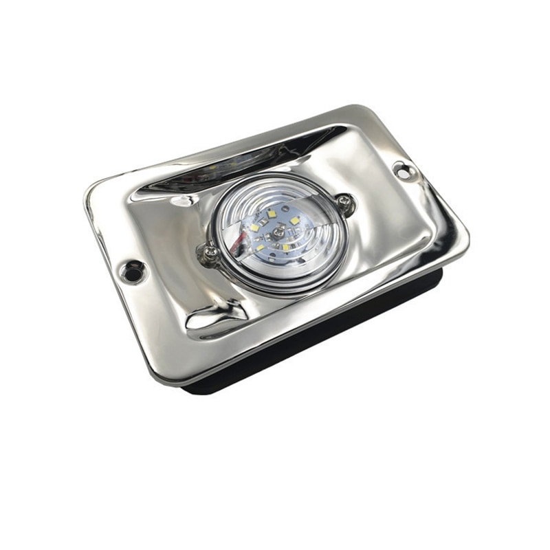 White LED Marine Boat Yacht Navigation Light Square Stainless Steel Signal Lamp Waterproof DC 12V white led marine boat yacht navigation light square stainless steel signal lamp waterproof dc 12v