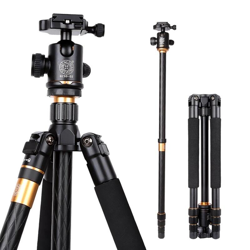 "15KG de carga fotográfico portátil monopie stativ dslr cámara digital Q999 62 ""trípode de cámara profesional trepied appareil photo"