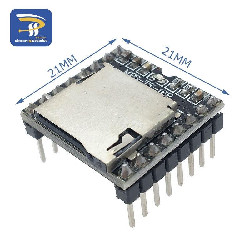 Мини mp3-плеер модуль TF карта U диск мини mp3-плеер аудио голосовой модуль плата для Arduino UNO DF Play MP3-TF-16P оптовая продажа