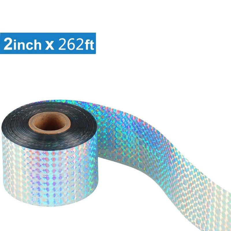 DIY Flash reflectante láser cinta de luz repelente de aves miedo cinta láser cinta adhesiva rechazo de plagas aves productos suministros