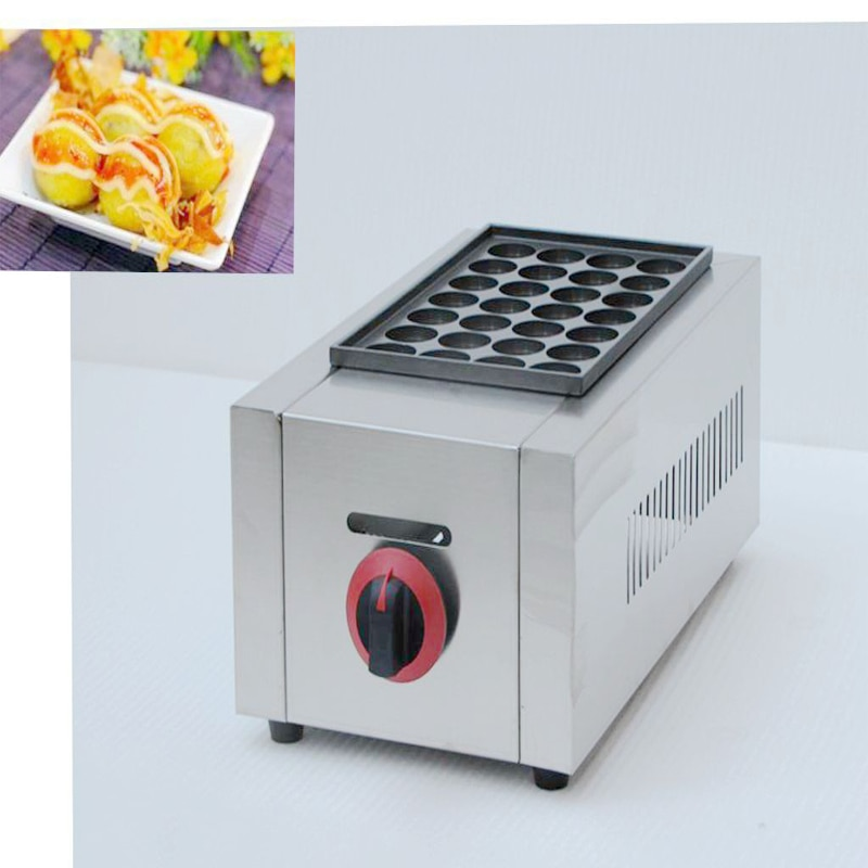 1 pièce de haute qualité Commercial gaz type 1 casserole Takoyaki fabricant Takoyaki Machine poisson boule gril poisson boule fabricant