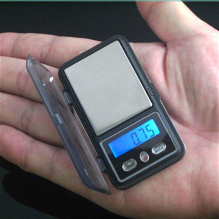 Minibalanza de bolsillo para joyas, balanza de peso de precisión portátil de 0,01 gramos para joyas de diamantes dorados, monedas LCD electrónicas