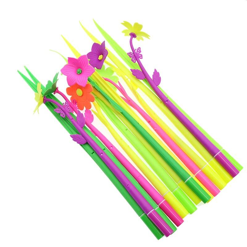 Творческий мультфильм милый моделирование завод мягкая силиконовая ручка 0,5 мм для заправки зажигалок детская канцелярский подарок канцел...