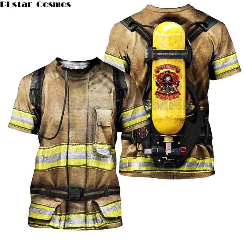 Trajes a juego para la familia, ropa para niños monther, traje de bombero, camisetas con estampado 3D, camiseta de hija de hijo de bombero 1