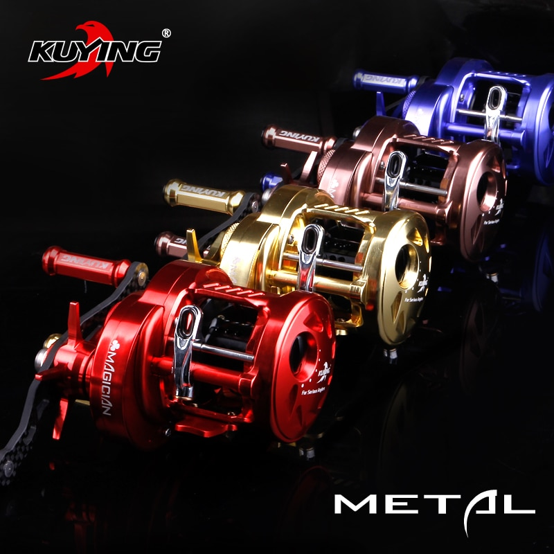 KUYING MAGICIAN 6.2:1 12+1 Metal Bait Casting Drum 286.5g Fishing Reel Vessel Wheel Saltwater Coil Centrifugal 8KG Free Shipping enlarge