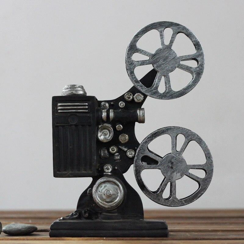 Modelo de proyector de película antiguo de imitación de resina, regalos creativos para decoración del hogar, accesorios para fotos de 19,2x14,3X4,8 CM