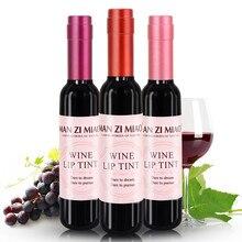 Neue lip flüssigkeit rotwein flasche wasserdicht lip gloss matte samt langlebige lippenstift flasche kosmetik
