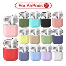 Funda protectora de silicona para Apple AirPods 2 auriculares Bluetooth auriculares inalámbricos auriculares Air Pods funda para AirPod Silm fundas