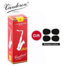 Original France Vandoren JAVA Tenor Sax Red Reeds Bb Tenor Saxophone Reeds 2.5# 3.0# Box of 5 with gift mouthpiece cushion