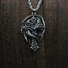 1 шт., модное мужское ожерелье с кулоном в виде кольца