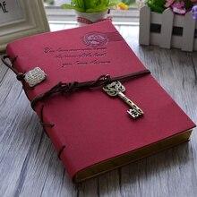 Mariyana Vintage carnet Journal Journal magique clé chaîne rétro en cuir carnet de notes Journal carnet feuille couverture en cuir blanc