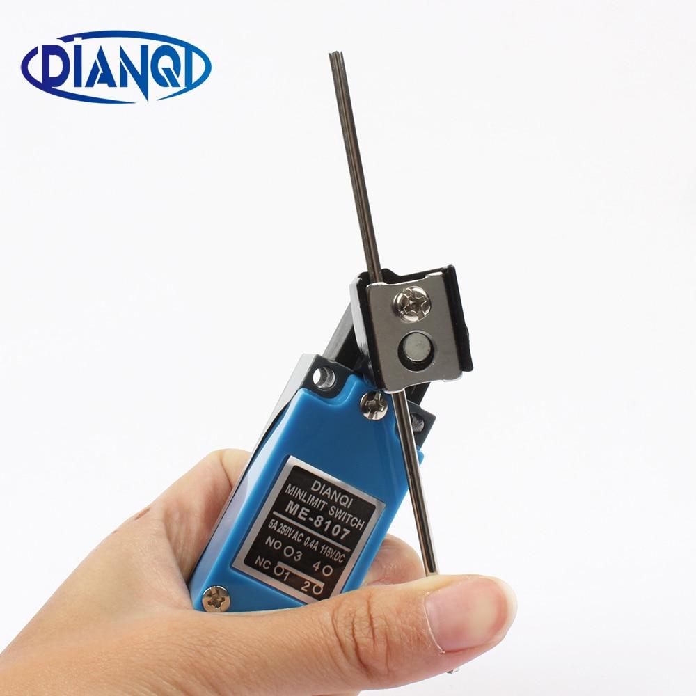 Nuevo 5 uds ME-8107 250VAC 5A 115VDC 0.4A palanca rotativa impermeable 1NO + 1NC interruptor de límite momentáneo