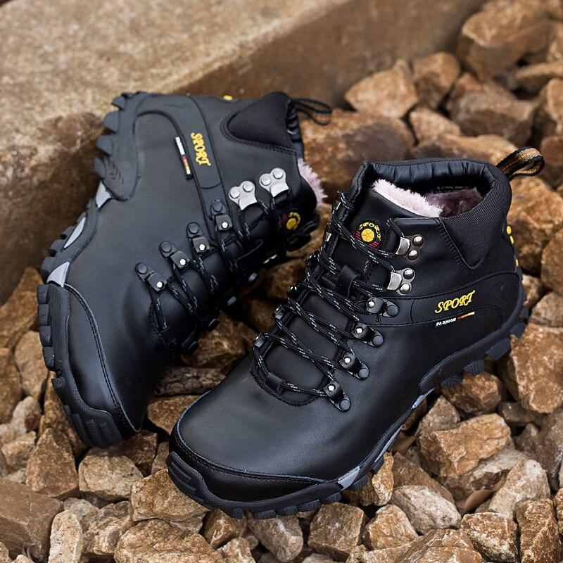 موضة جديدة الرجال الشتاء الأحذية الدفء أفخم الثلوج الفراء أحذية عمل الدانتيل متابعة الرجال حذاء كاجوال رجل Zapatillas تنيس الكبار Krasovki