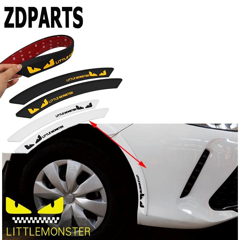 2X ZDPARTS Proteger Borda do Pneu Da Roda Fender Sobrancelha Adesivos de Carro Para Bmw E46 E39 E60 E90 F30 F10 F20 E30 X5 E53 E70 Mazda 3 6 CX-5