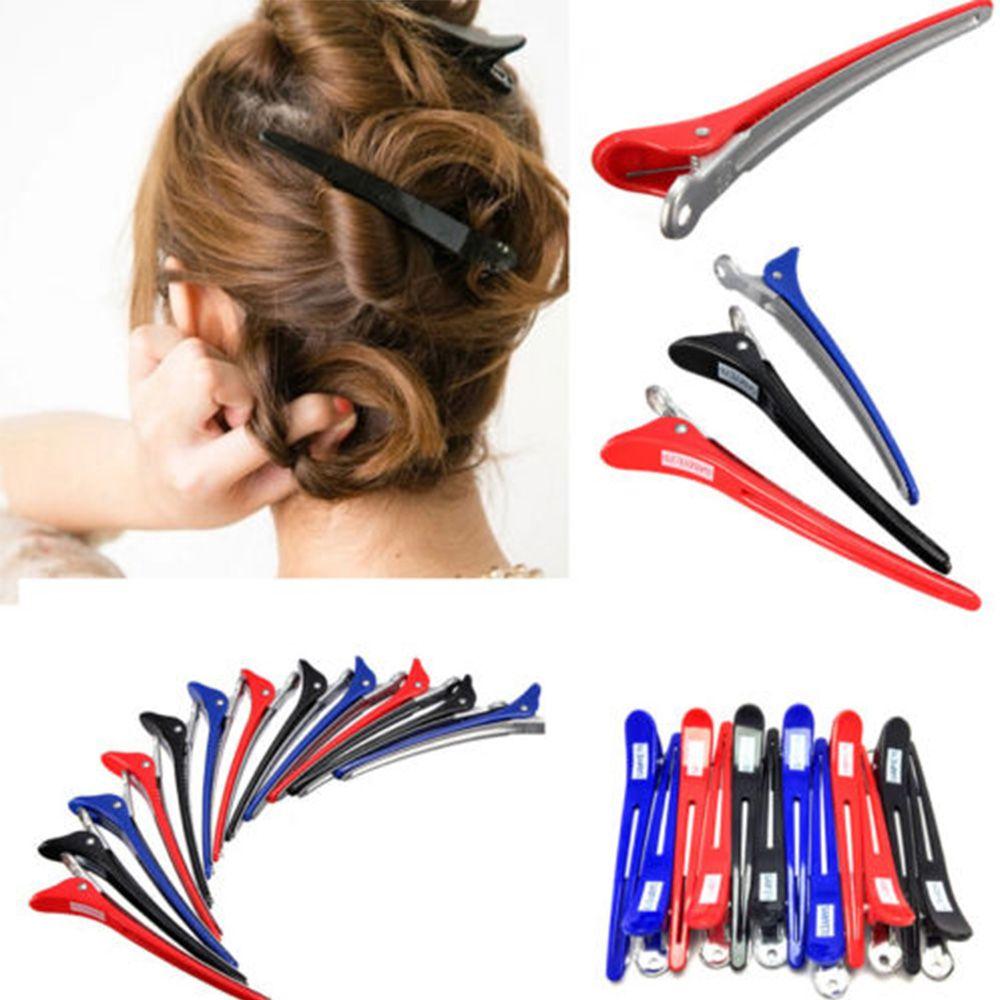 Multifunções útil 12 pçs metal grampo de cabelo estilo acessório profissional cabeleireiro salão de beleza seção grampo de cabelo ferramentas estilo