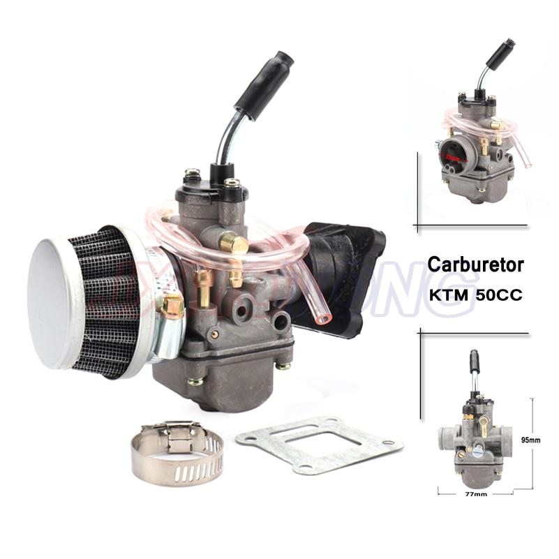 Carburador con filtro de aire y arranque de colector para KTM 50 50SX 50CC JUNIOR 50CC SX 2001-2008 kit de carburador de mano 20mm