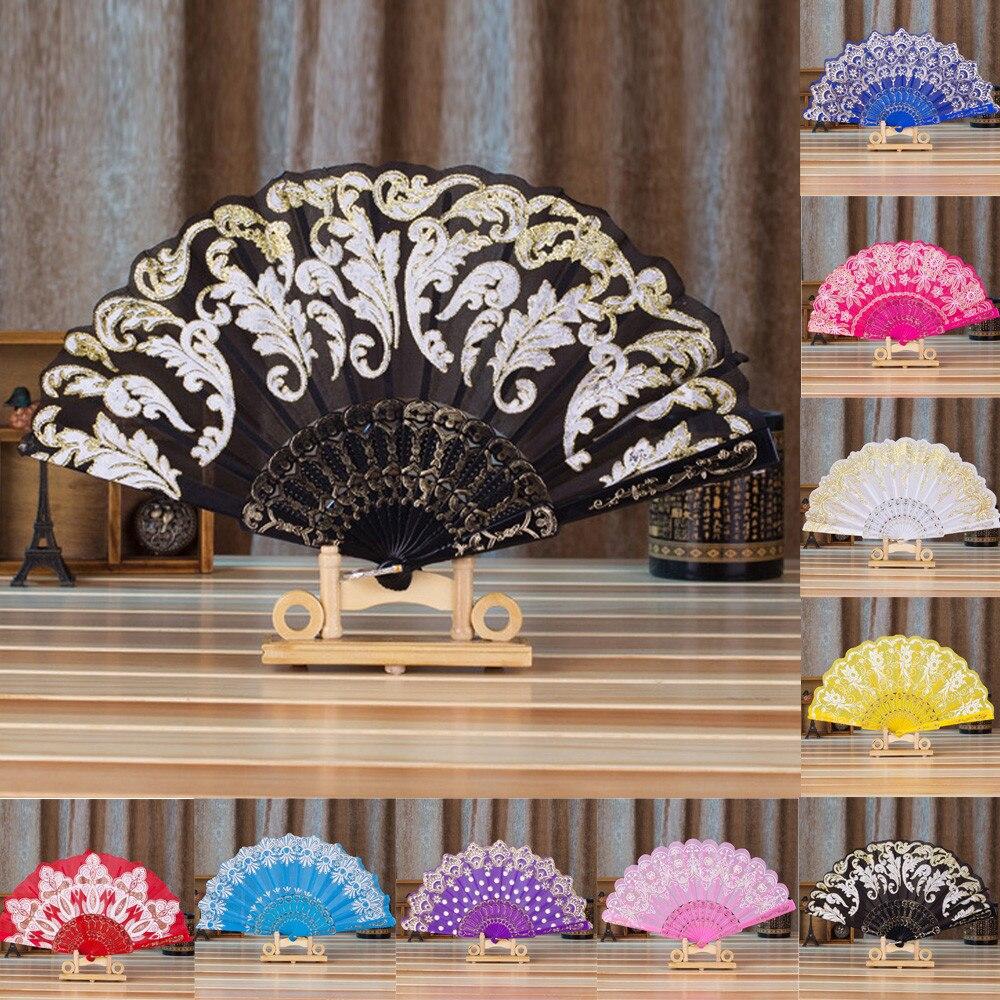 Abanico de estilo chino y español Para fiestas, Abanicos decorativos de seda,...