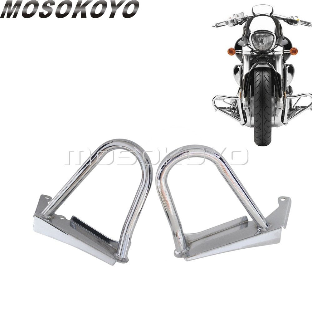 Chrome Motorcycle Engine Guard Crash Bar Guard Safety Bumper Protector for Suzuki Boulevard M109R 2006-2014