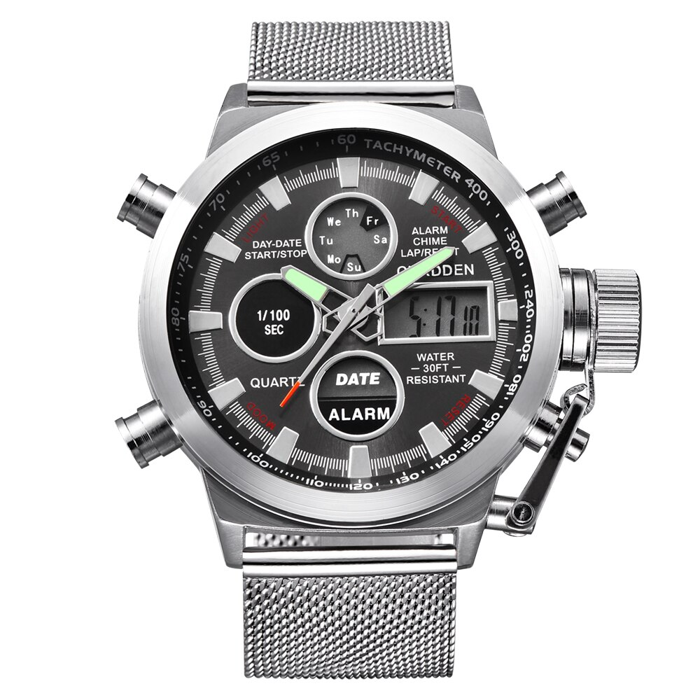 Marca de moda CURDDEN 2020 cronógrafo completa de acero relojes hombres Digital...
