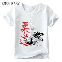 T-shirt manches courtes col rond enfants   Offre spéciale, Judo imprimé, mode dété, Top garçons/filles, ooo402