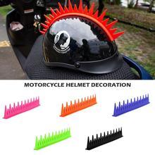 Motocross Helm Aufkleber Motorrad Biker Helm Aufkleber Mohawk Spike Streifen Stick Helm Klinge Spikes Capacete Dekoration
