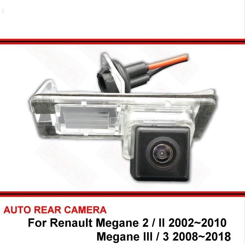 For Renault Megane II III Megane 2 3 2002-2018 Night Vision Rear View Camera Reversing Camera Car Back up Camera HD CCD Vehicle