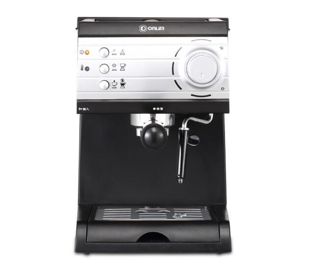 Donlim italian espresso cafe machine household semi-automatic pump steam coffee maker high pressure 20Bar cappuccino DL-KF6001
